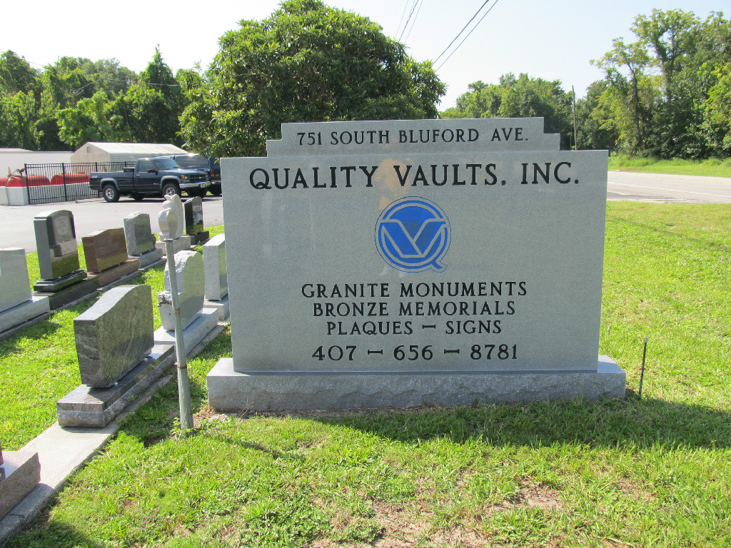 Quality Vaults and Monuments Home Page